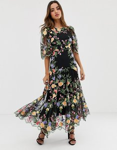 Read more about Asos edition embroidered maxi dress with scallop edge