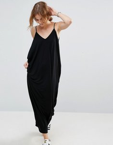 Read more about Asos drape hareem maxi dress - black