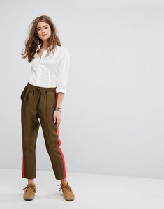 Read more about Maison scotch tailored sweatpants with contrast side panel - army