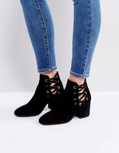 Read more about Hudson kris suede cut out ankle boots - black suede