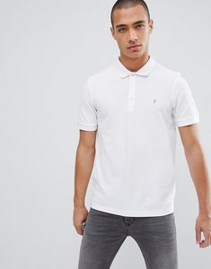Read more about Farah blaney pique polo slim fit in white - white