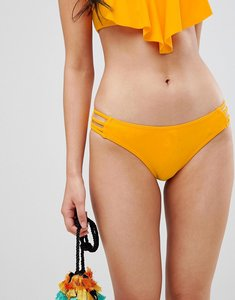 Read more about Pimkie strappy side detail bikini brief - yellow
