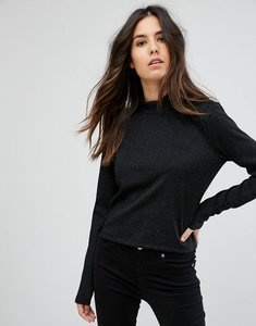 Read more about Mbym high neck ribbed jumper - black