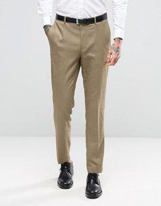Read more about Asos wedding skinny suit trouser in taupe twist micro texture - oatmeal