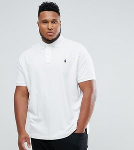 Read more about Polo ralph lauren big tall polo shirt with logo in white - white