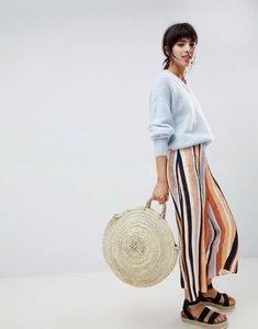 Read more about Asos design tailored soft jacquard stripe culottes - stripe
