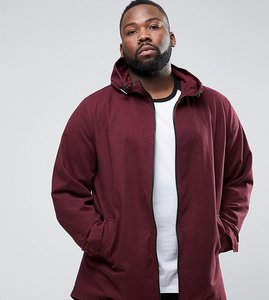 Read more about Asos plus lightweight parka jacket in burgundy - burgundy