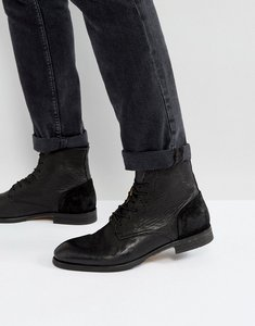 Read more about H london yoakley leather lace up boots - black