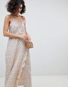 Read more about Intropia printed midi slip dress - pink print