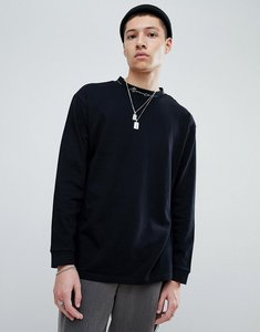 Read more about Mennace oversized long sleeve t-shirt in black - black