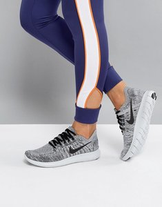 Read more about Nike free run flyknit trainers in grey - grey