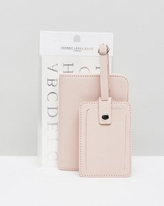 Read more about Johnny loves rosie monogramme luggage tags and passport holder - pink