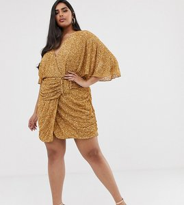 Read more about Asos design curve all over sequin mini dress with horn buckle