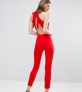 Read more about Oh my love tall jumpsuit with bow back - red