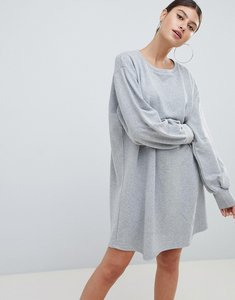 Read more about Prettylittlething oversized sweater dress - grey