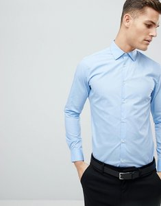 Read more about French connection slim fit poplin shirt - mid blue