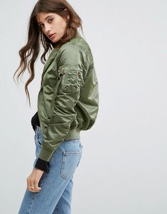 Read more about Alpha industries ma-1vf reversible bomber jacket - sage green camo