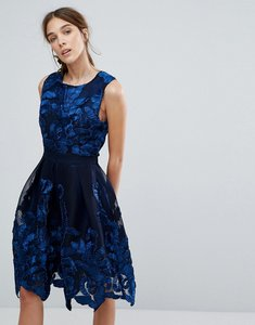 Read more about Zibi london embellished net prom dress - navy