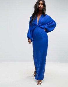 Read more about Asos balloon sleeve column maxi dress - cobalt