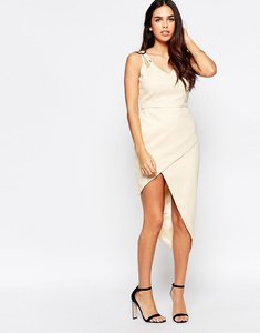 Read more about Vlabel lyle dress with asymmetric hem - nude