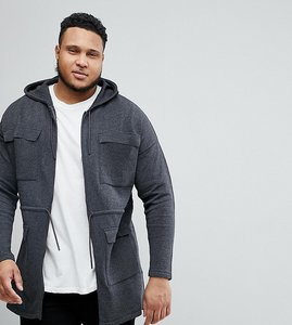 Read more about Asos plus knitted parka in charcoal - charcoal
