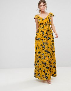 Read more about Traffic people floral chiffon maxi dress - mustard