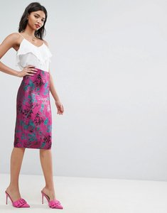 Read more about Asos jacquard pencil skirt - multi