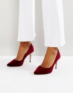 Read more about Head over heels by dune alana velvet pointed court shoes - red