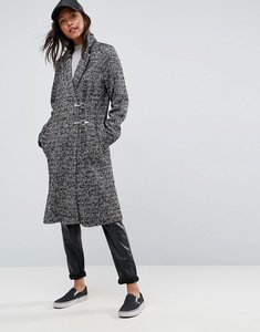 Read more about Asos coat in herringbone with clip fastenings - mono