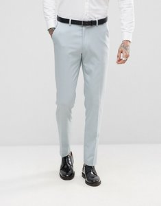 Read more about Asos wedding skinny tuxedo suit trousers in ice blue - blue