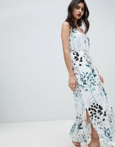 Read more about Soaked in luxury tonal floral strappy maxi dress - meadow floral