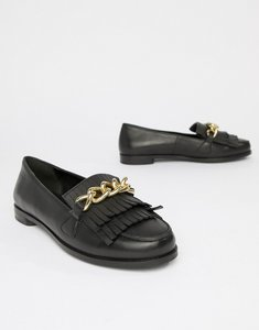 Read more about Park lane leather flat shoes - black