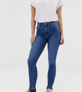 Read more about Bershka super high waisted skinny jean in blue