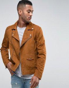 Read more about Barneys suede biker jacket - tan