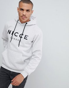 Read more about Nicce hoodie in grey with large logo - grey