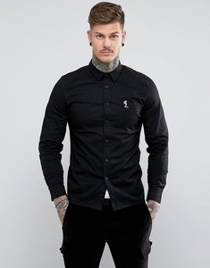 Read more about Religion slim fit shirt with stretch - black