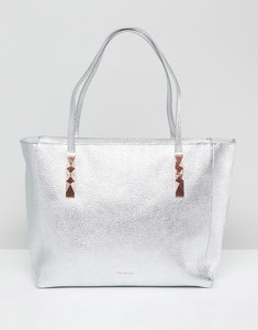 Read more about Ted baker soft leather tote with zip - silver