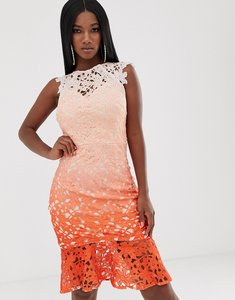 Read more about Lipsy lace midi dress in ombre