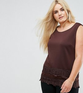 Read more about Lovedrobe top with crochet trim - red