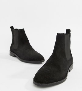 Read more about Asos design aura suede chelsea ankle boots - black suede