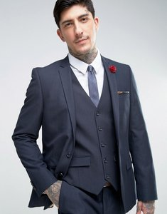 Read more about Harry brown slim fit micro dot suit jacket - navy
