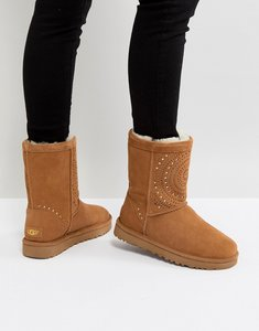 Read more about Ugg classic short sunshine perf chestnut boots - chestnut