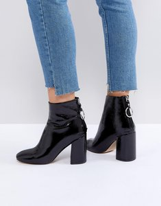 Read more about Steve madden posed black heeled ankle boots - black