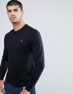 Read more about Polo ralph lauren long sleeve top with crew neck in black - polo black