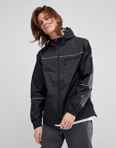 Read more about Stussy 3m nylon lightweight jacket with hood - black