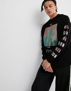 d68264de Read more about Asos design oversized long sleeve t-shirt with photographic  and sleeve print