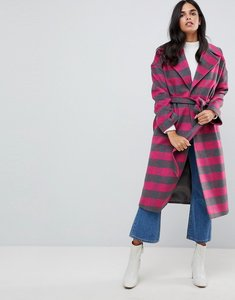 Read more about Helene berman wool blend revere collar pink check coat - pink grey