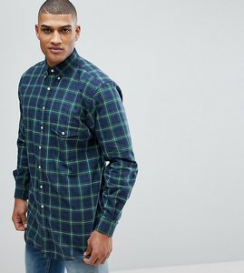 Read more about Polo ralph lauren big tall check oxford shirt in dark green - army green navy
