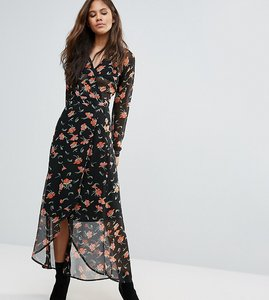 Read more about Asos tall maxi dress in pretty floral with open back - multi