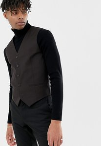 Read more about French connection slim fit plain burgundy waistcoat - red